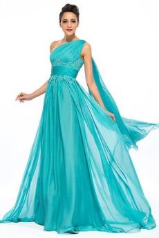 Πολυτελές Χάνει Σιφόν Αμάνικο Διακοσμητικά Επιράμματα Βραδινά φορέματα