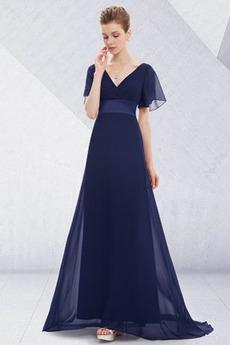 Πλισέ Καλοκαίρι Οι πτυχωμένες μπούστο Ανάποδο Τρίγωνο Βραδινά φορέματα