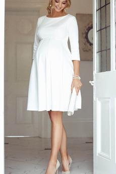 Βραδινά φορέματα Εγκυμοσύνη Φυσικό Μέχρι το Γόνατο Ντραπέ Αυτοκρατορία