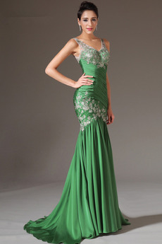 632fea1009cc Κομψό Λαιμόκοψη V Καλοκαίρι Αμάνικο Σιφόν Βραδινά φορέματα
