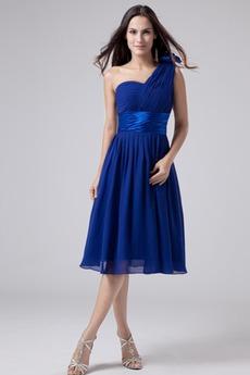 Οι πτυχωμένες μπούστο Σιφόν απλός Γραμμή Α Παράνυμφος φορέματα