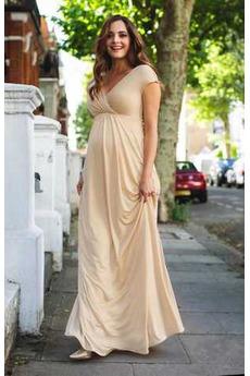 Βραδινά φορέματα Μεγάλα Μεγέθη Καλοκαίρι Βαθιά v-λαιμός Τα μέσα πλάτη