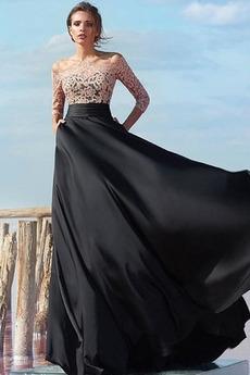 Κλειδαρότρυπα πίσω 3 Χειμώνας Ρετρό Δαντέλα επικάλυψης Βραδινά φορέματα