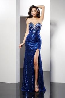 Πολυτελές Κόσμημα τονισμένο μπούστο Αμάνικο Μπάλα φορέματα