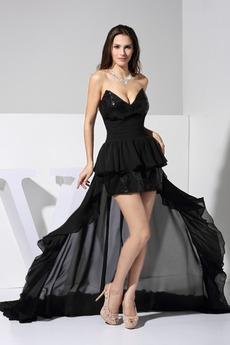 Ασύμμετρη Ασύμμετρη Φυσικό Αμάνικο Σέξι εξώπλατο Μπάλα φορέματα