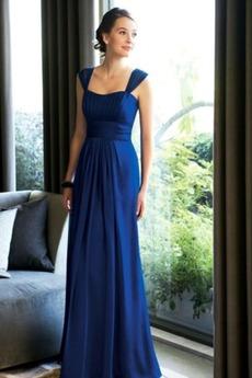 Οι πτυχωμένες μπούστο Σιφόν Φυσικό Επίσημη Παράνυμφος φορέματα