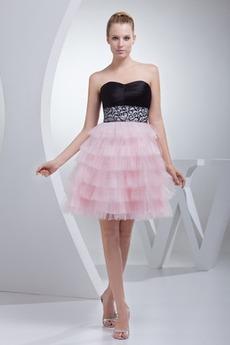Καλοκαίρι άτυπος Τούλι κλιμακωτή εξώπλατο Κοκτέιλ φορέματα