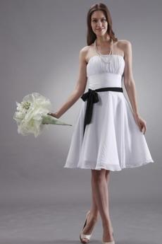 Μέχρι το Γόνατο Μικροκαμωμένη Τα μέσα πλάτη Παράνυμφος φορέματα