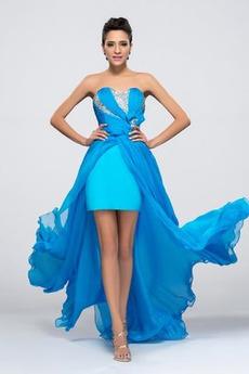 Ντραπέ Σιφόν Πολυτελές Τονισμένα τόξο Στράπλες Βραδινά φορέματα