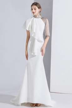 Βραδινά φορέματα Μακρύ Θήκη Χαμηλών τόνων Ψευδαίσθηση Φυσικό Φθινόπωρο
