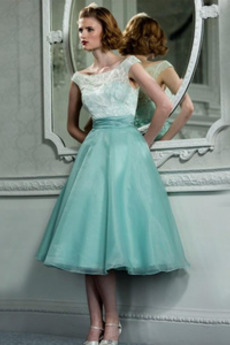 άτυπος Άνοιξη Μέχρι το Γόνατο Δαντέλα Δαντέλα Κοκτέιλ φορέματα