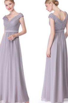 Κοντομάνικο Γραμμή Α Προσαρμοσμένες μανίκια Βραδινά φορέματα