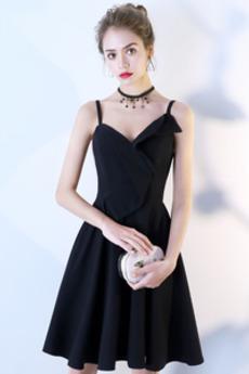 Τιράντες σπαγγέτι εξώπλατο Αμάνικο Διαδοχικά Βολάν Κοκτέιλ φορέματα