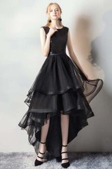 Κόσμημα Οργάντζα Ασύμμετρη Φθινόπωρο Φυσικό Μπάλα φορέματα