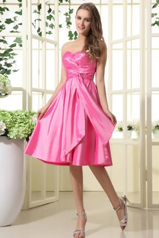 Γραμμή Α Αμάνικο 2014 Ταφτάς αγαπημένος Μίνι Παράνυμφος φορέματα