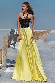 Μακρύ Αμάνικο Φυσικό Δαντέλα αγαπημένος εξώπλατο Μπάλα φορέματα