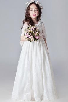 Κόσμημα Τονισμένα τόξο Γραμμή Α Μήκος πατωμάτων Λουλούδι κορίτσι φορέματα