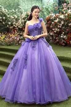 εξώπλατο Κλεψύδρα Γραμμή Α Οργάντζα Λουλούδι Μπάλα φορέματα