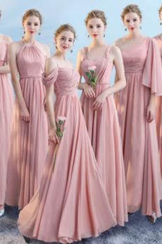 Οι πτυχωμένες μπούστο Φυσικό Από τον ώμο Παράνυμφος φορέματα