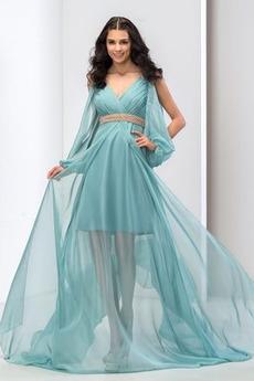 Πολυτελές Φυσικό Κλεψύδρα Λαιμόκοψη V Φθινόπωρο Βραδινά φορέματα