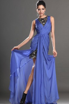 Θήκη υψηλή Χαμηλή Μπροστινό Σκίσιμο σικ Καλοκαίρι Μπάλα φορέματα