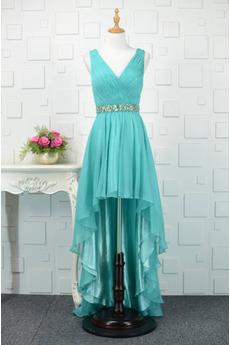 Αμάνικο δραματική Πλισέ Φυσικό Λαιμόκοψη V Βραδινά φορέματα