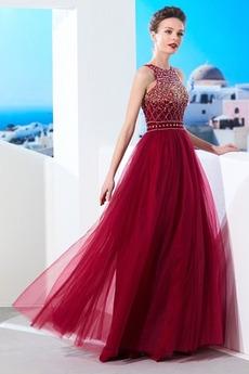 εξώπλατο Κρυστάλλινη Κόσμημα τονισμένο μπούστο Βραδινά φορέματα