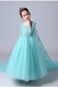 Φυσικό Φερμουάρ επάνω Ψευδαίσθηση Γραμμή Α Λουλούδι κορίτσι φορέματα