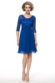 Ντραπέ Δαντέλα επικάλυψης Φυσικό Ψευδαίσθηση Μητέρα φόρεμα