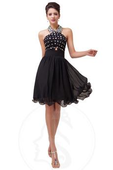 καπίστρι Κομψό Καλοκαίρι Γραμμή Α Μέχρι το Γόνατο Βραδινά φορέματα