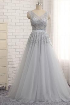 Διακοσμητικά Επιράμματα Τούλι Λαιμόκοψη V Μπάλα φορέματα