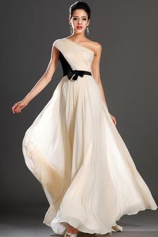 Ασύμμετρα μανίκια Ένας Ώμος Καλοκαίρι Αποκλειστική Βραδινά φορέματα