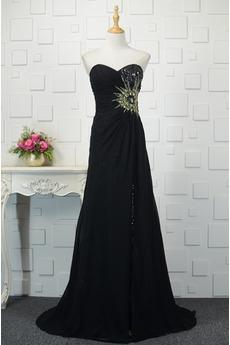 Οι πτυχωμένες μπούστο Κρυστάλλινη σικ Δαντέλα-επάνω Μπάλα φορέματα
