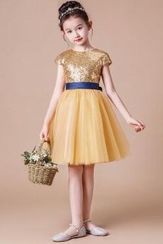 Φυσικό Χάνει Γραμμή Α Κοντομάνικο Φθινόπωρο Λουλούδι κορίτσι φορέματα