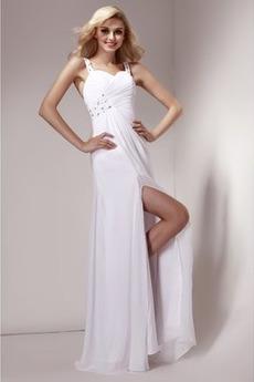 Ντραπέ Φυσικό Σιφόν Κομψό Οι πτυχωμένες μπούστο Βραδινά φορέματα