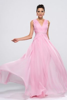 Λαιμόκοψη V Ντραπέ Οι πτυχωμένες μπούστο Βραδινά φορέματα