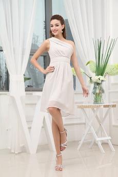 Αμάνικο άτυπος Τα μέσα πλάτη Ασύμμετρα μανίκια Μπάλα φορέματα