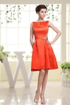 Κρυστάλλινη Σατέν Υψηλή καλύπτονται Γραμμή Α Παράνυμφος φορέματα