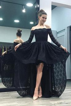 Βραδινά φορέματα υψηλή Χαμηλή άτυπος Ασύμμετρη Φυσικό Ασύμμετρη Από τον ώμο