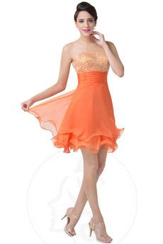 Κόσμημα τονισμένο μπούστο Μέχρι το Γόνατο Κοκτέιλ φορέματα