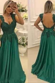 Βραδινά φορέματα εξώπλατο Ευρεία λουριά Χάνει Τονισμένα τόξο Επίσημη