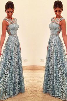 Βραδινά φορέματα Γραμμή Α Χάνει Από τον ώμο Μήκος πατωμάτων Φυσικό Δαντέλα επικάλυψης