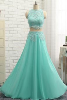 Μέχρι τον αστράγαλο κούνια Σιφόν Πολυτελές Μπάλα φορέματα