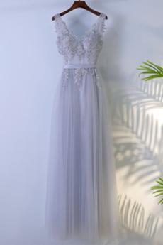 Κλεψύδρα Φερμουάρ επάνω Γραμμή Α Μήκος πατωμάτων Παράνυμφος φορέματα