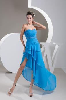 Σιφόν Χάντρες Ασύμμετρη Φυσικό άτυπος Καλοκαίρι Κοκτέιλ φορέματα