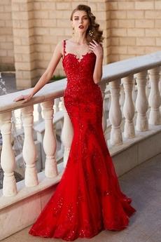 Χάντρες Φθινόπωρο Δαντέλα επικάλυψης Κομψό Βραδινά φορέματα