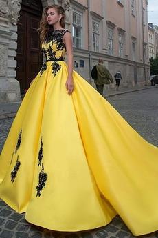 Γραμμή Α Σατέν Έτος 2020 Αμάνικο Επίσημη Μπάλα φορέματα