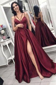 Βαθιά v-λαιμός Γραμμή Α Λαιμόκοψη V Χάνει Μπάλα φορέματα