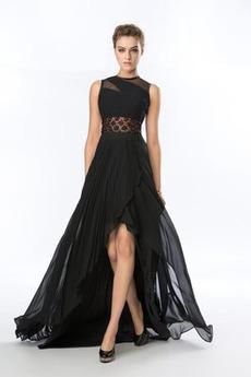 Καλοκαίρι Σιφόν Ασύμμετρη Χάνει Κόσμημα Φυσικό Βραδινά φορέματα