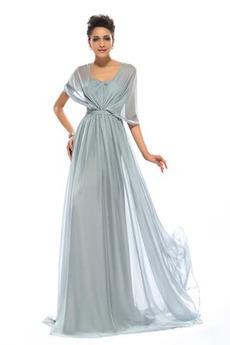 Σιφόν Αμάνικο Γραμμή Α καπίστρι πιέτα Μακρύ Βραδινά φορέματα